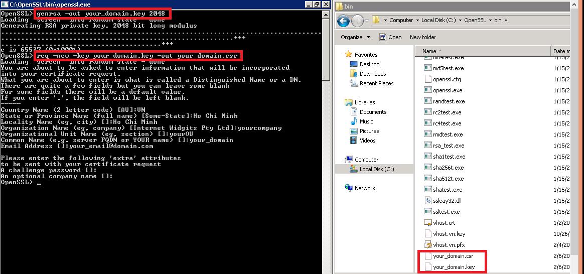 Hướng dẫn tạo file CSR dùng để đăng ký SSL bằng công cụ