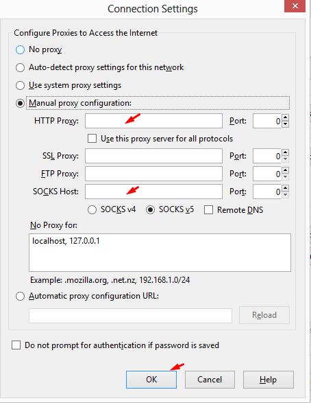 Hướng dẫn cài đặt và sử dụng Proxy, Socks Proxy trên các trình duyệt